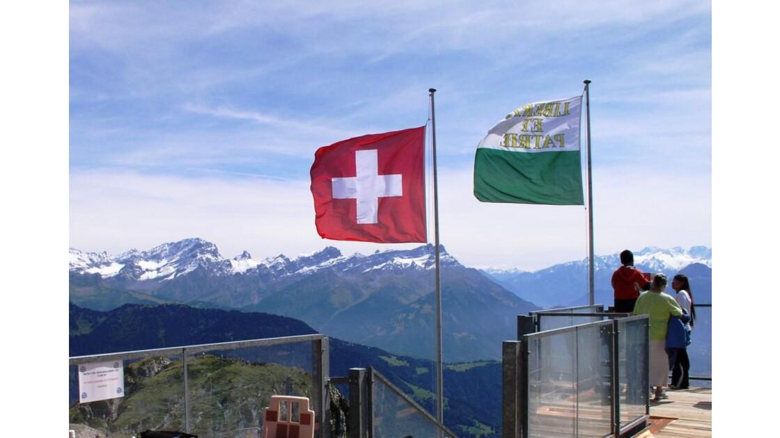 Vue sur les Alpes françaises
