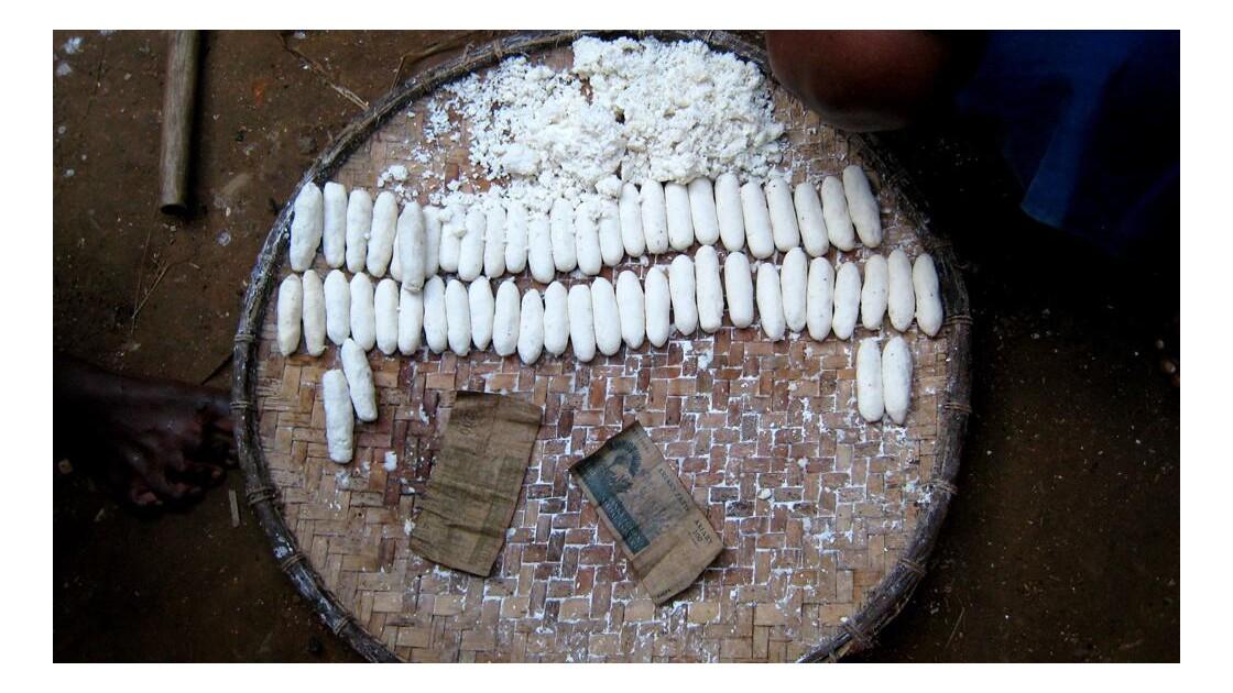 Sahavato, boulettes manioc