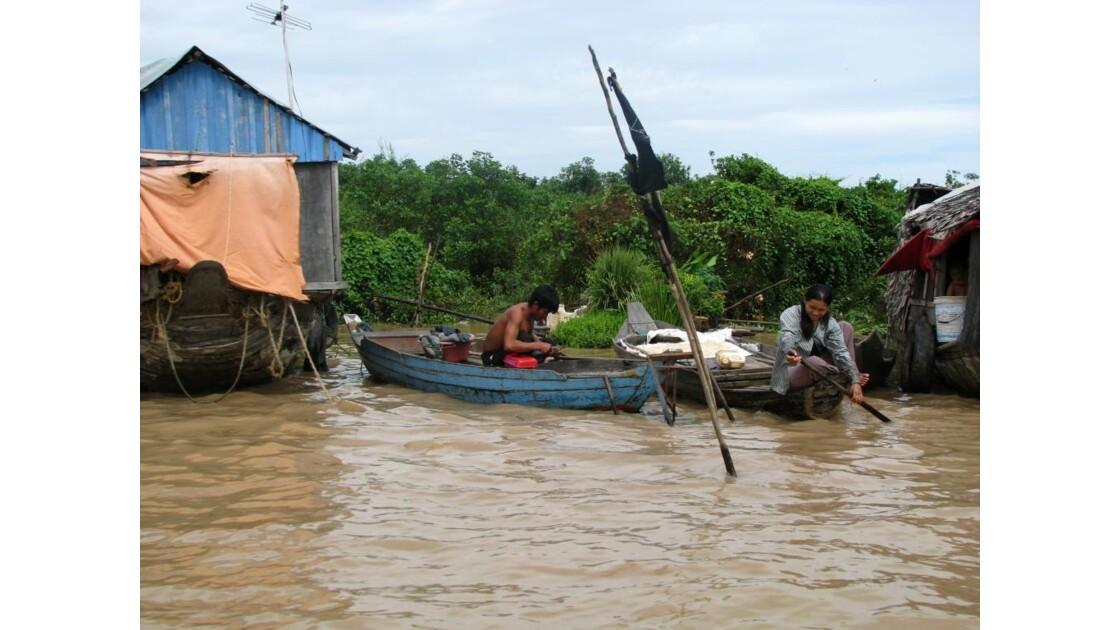 Lac Tonlé Sap pécheur