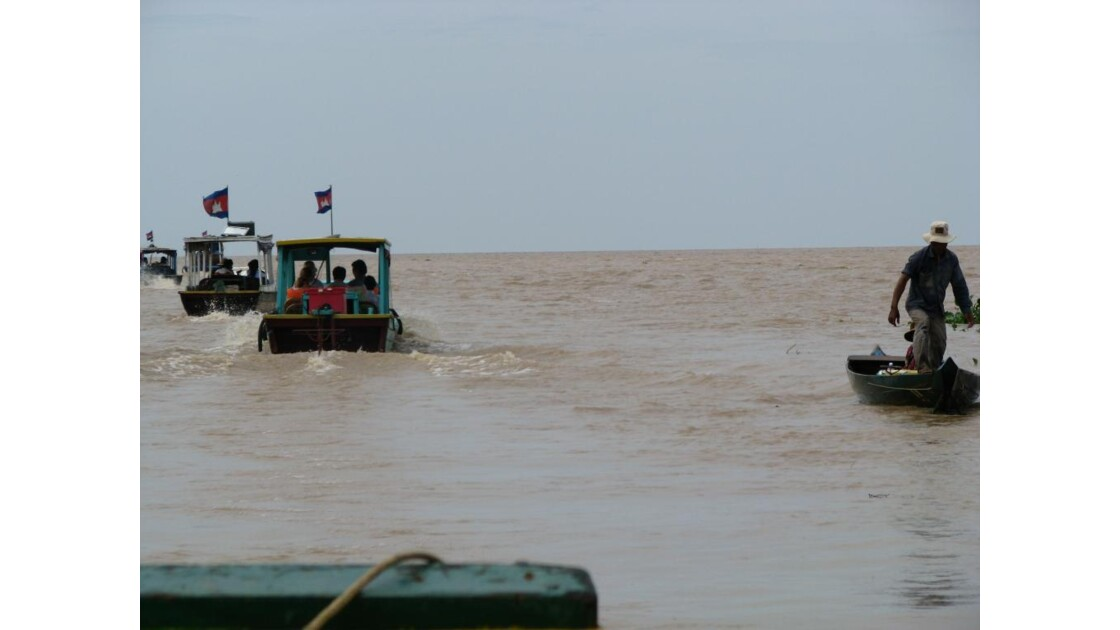 Lac Tonlé Sap vers le large