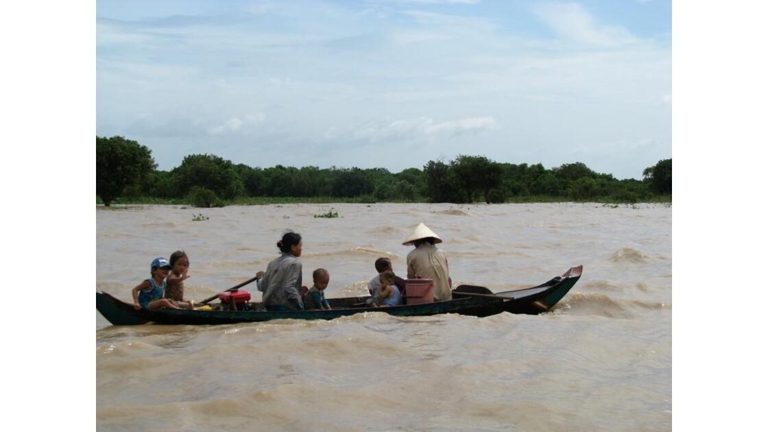 Lac Tonlé Sap en famille