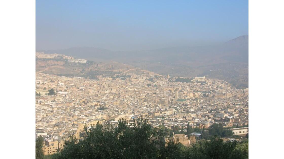 Maroc Fes vue panoramique de la médina