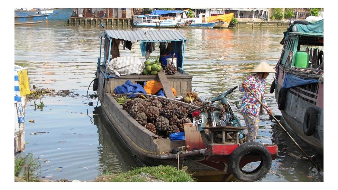 Saigon- marchandise pour le marché