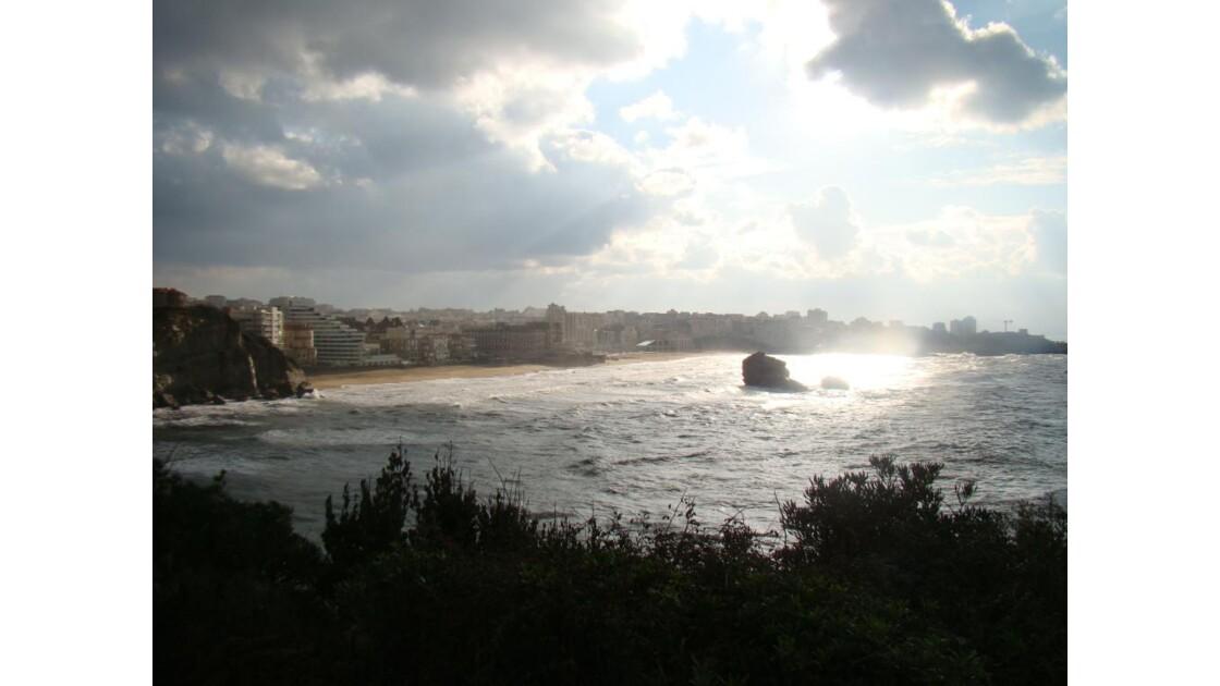 Vue vers la grande plage