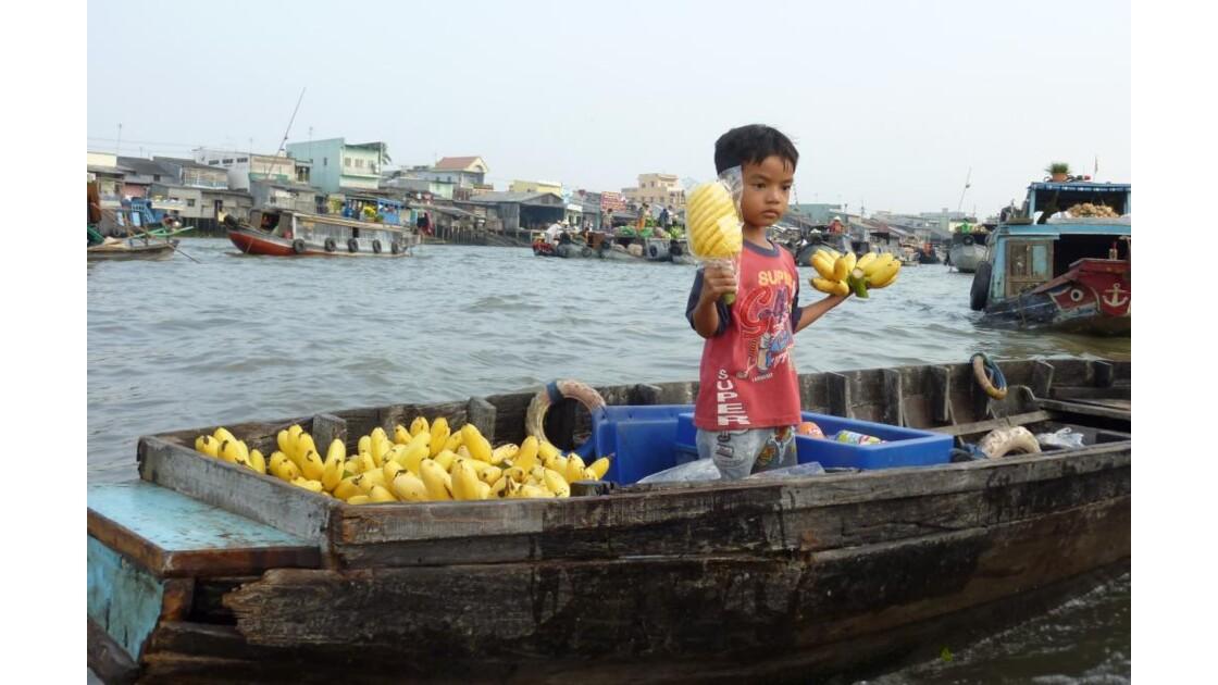 Vietnam-Vendeur d'Ananas
