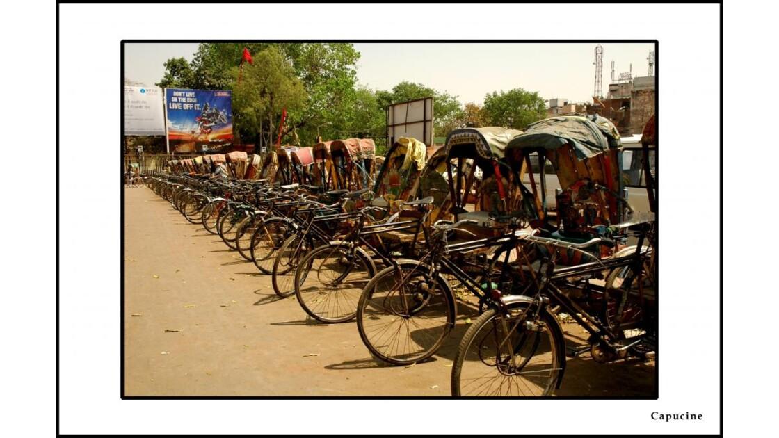 Rikshaw parking