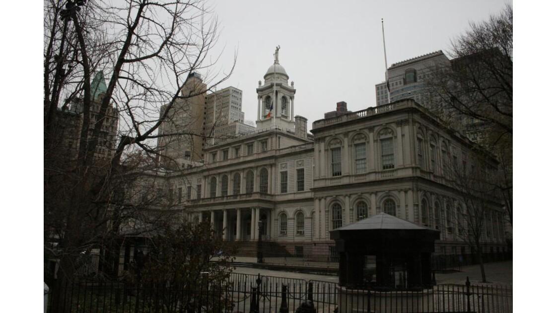 l'hôtel de ville de New York...