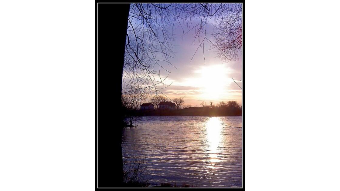 Soleil levant sur Saône