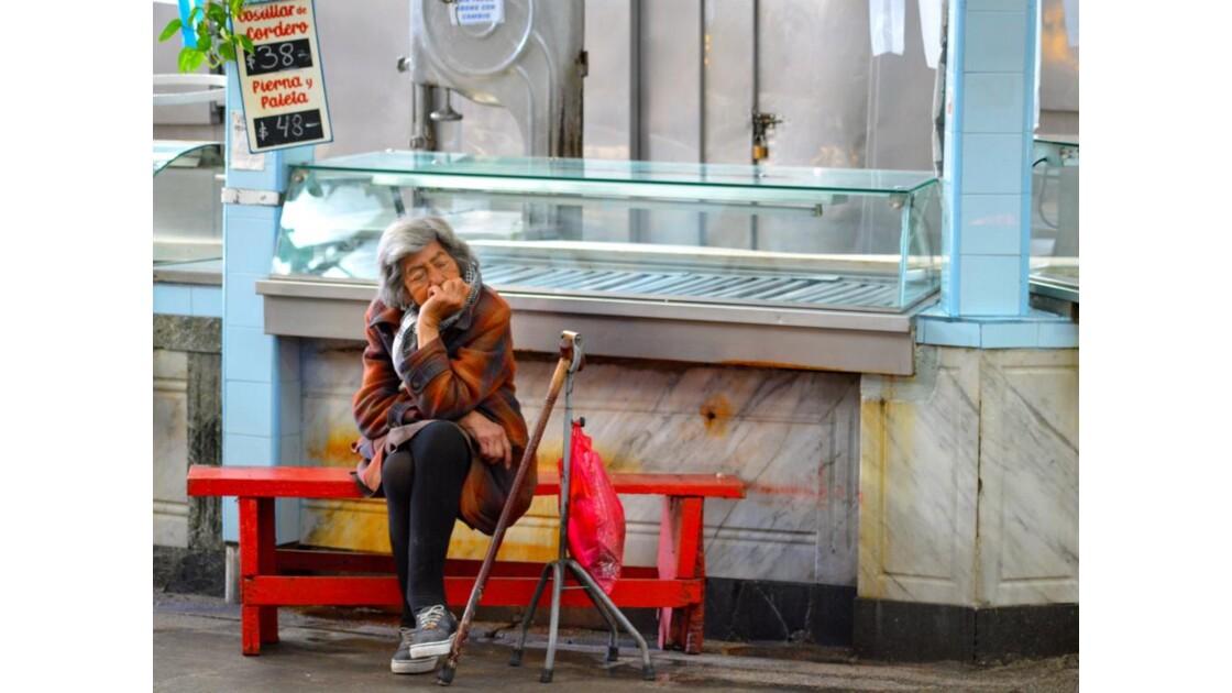 La vieille dame du marché