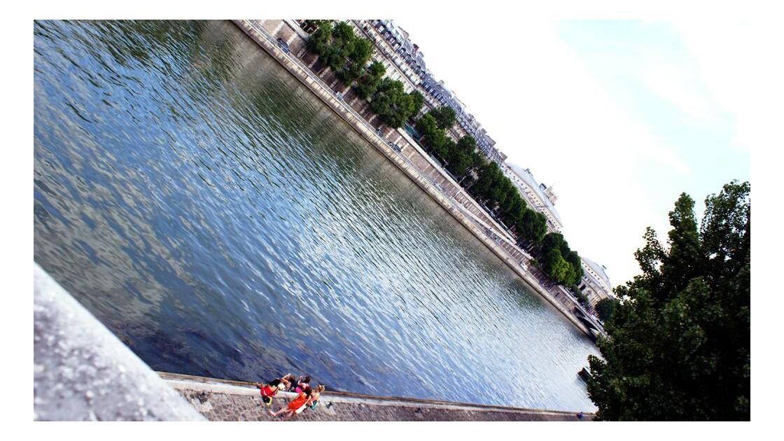 Bord de Seine un jour d'ensoleillement