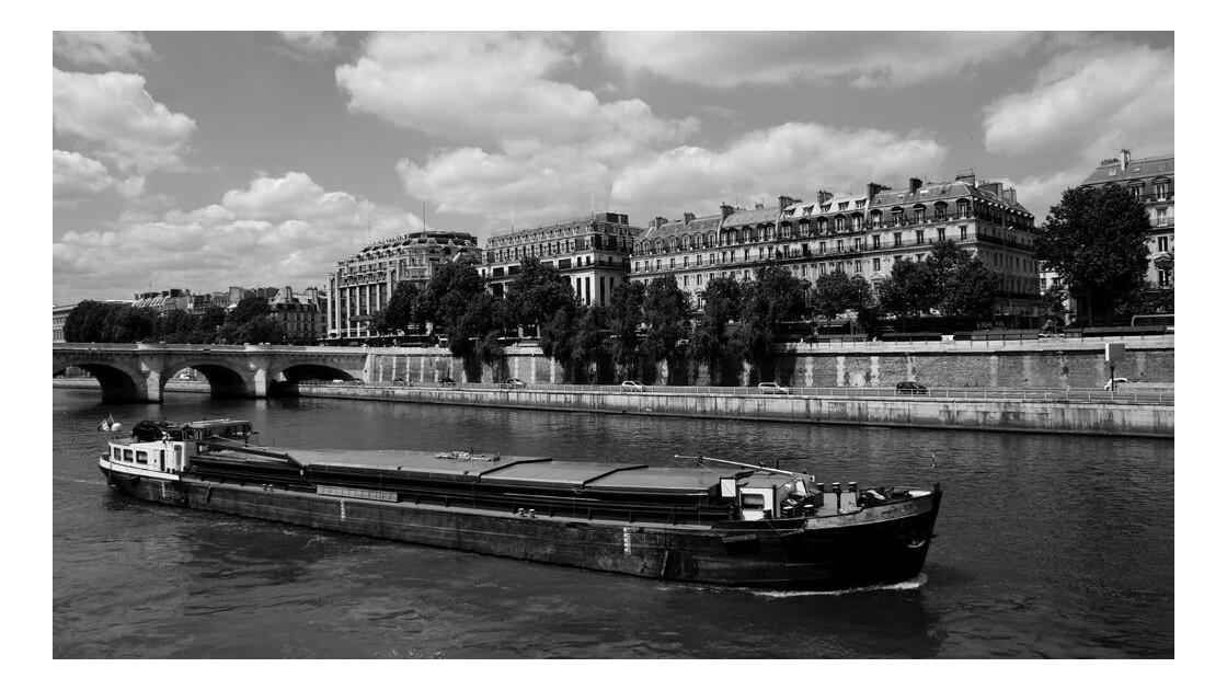 La Seine et ses péniches