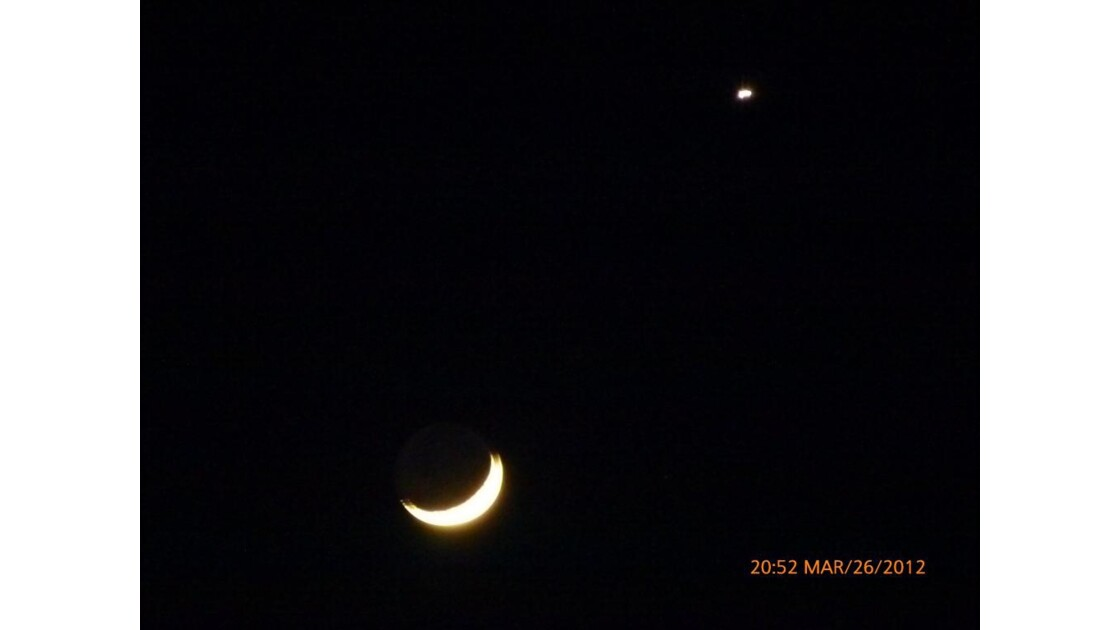 un soir la lune et son étoile !