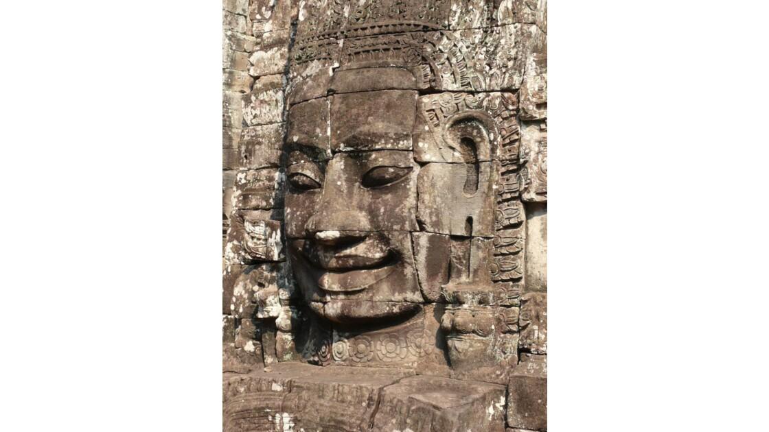 le temple du Bayon à Angkor Tom