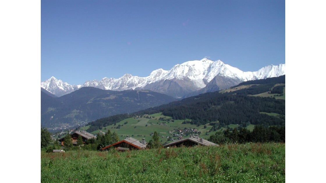 le Mont Blancet ses neiges éternelles