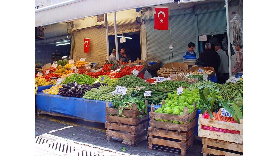 faire son marché en Turquie