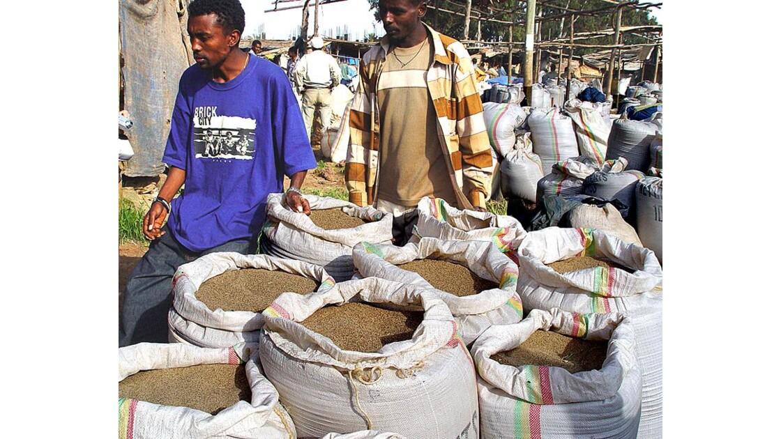 marché au grain Ethiopien