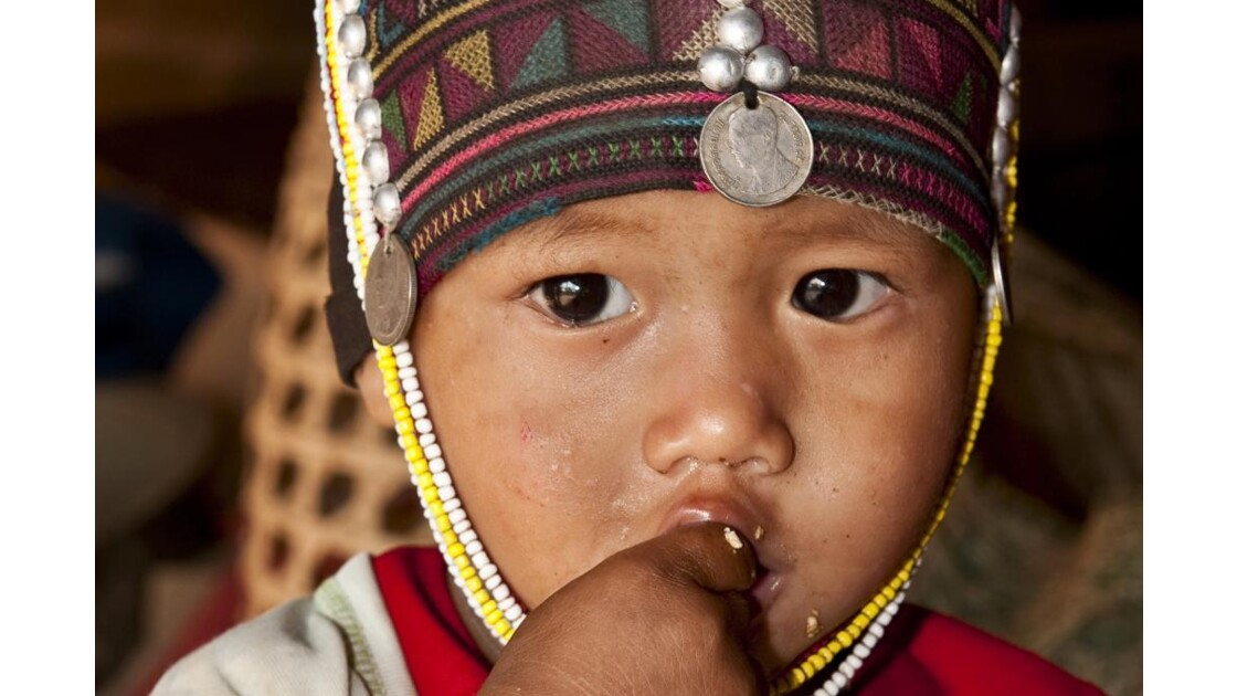 Jeune Akha dans les montagnes birmanes