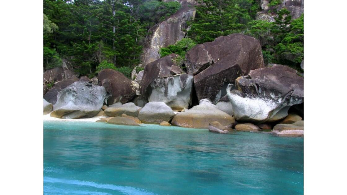 les eaux turquoises de whitsunday