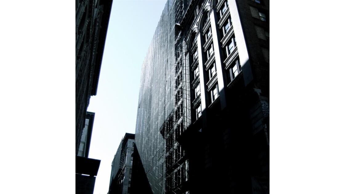 Dark silver facade