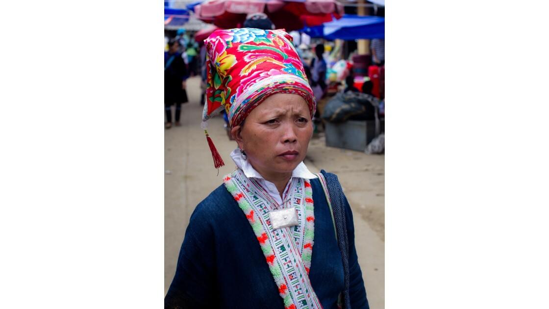 sur le marché de Muong Hum
