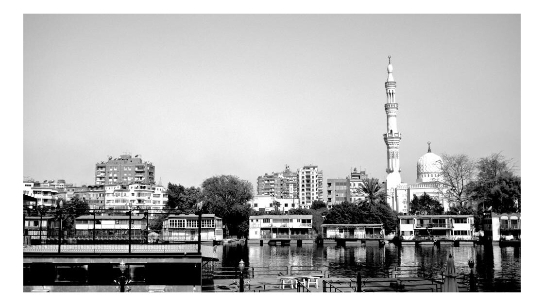 the bank of the Nil in Cairo..jpg