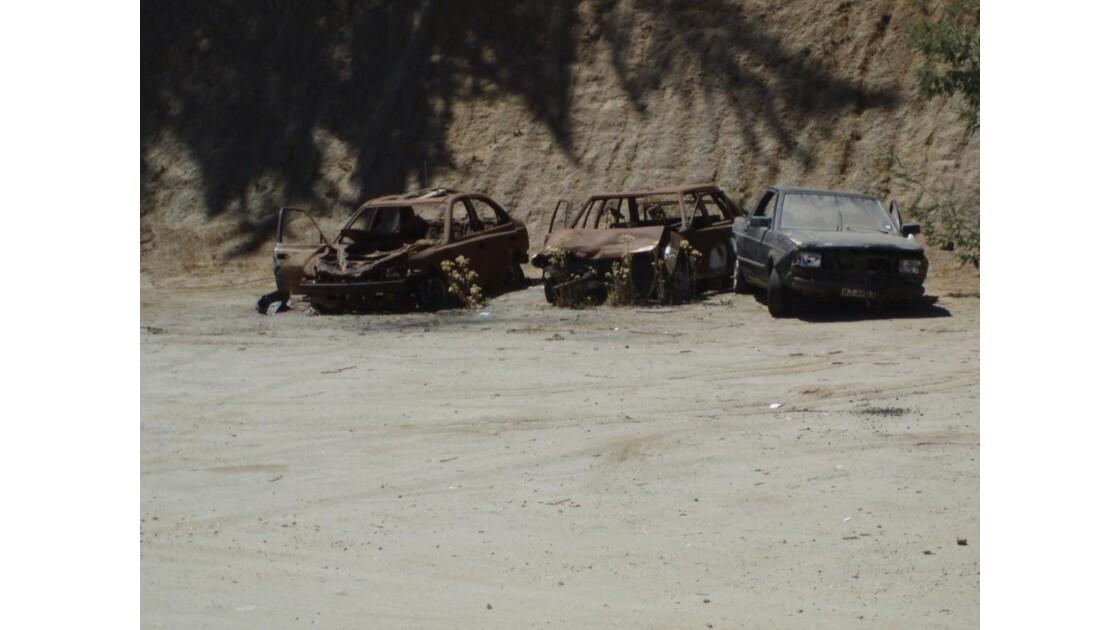 carcasses de voitures chiliennes