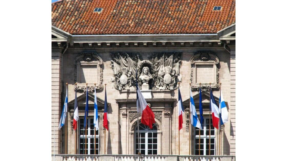 Fronton de la mairie: Louis XIV