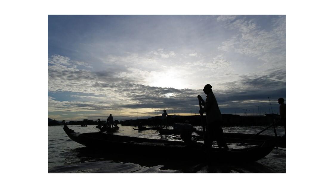 Taxi village flottant Kompong Chhnang