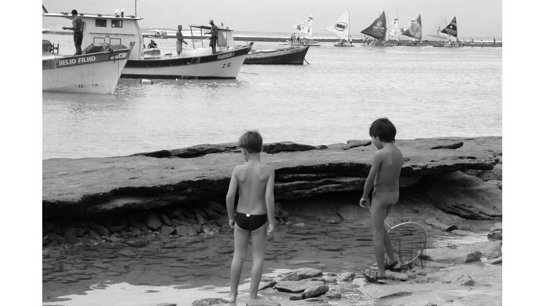 Brasil gamins plage