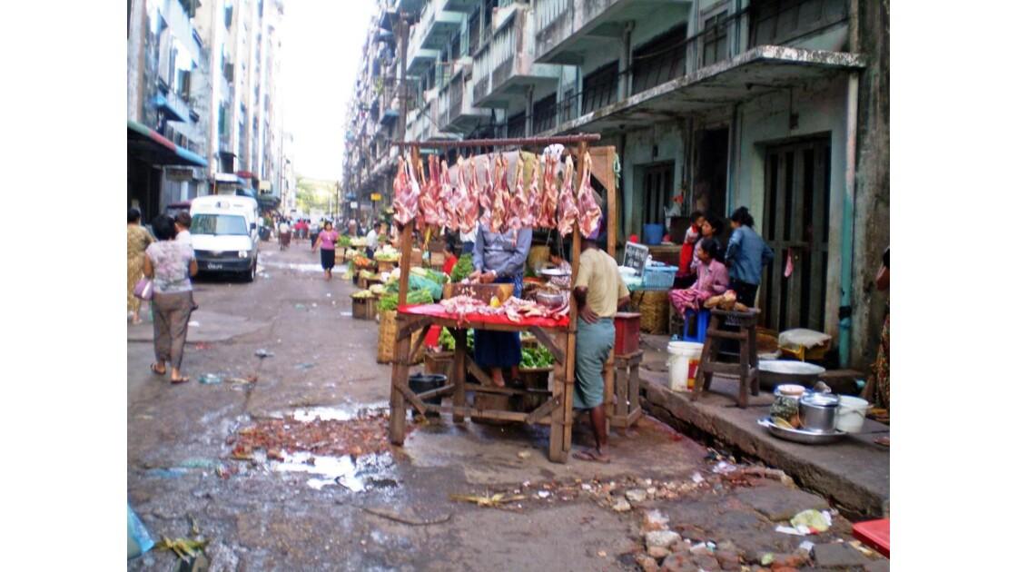 La boucherie à Yangon