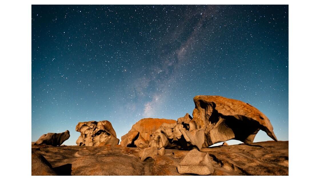Nuit étoilée à Remarkable Rocks