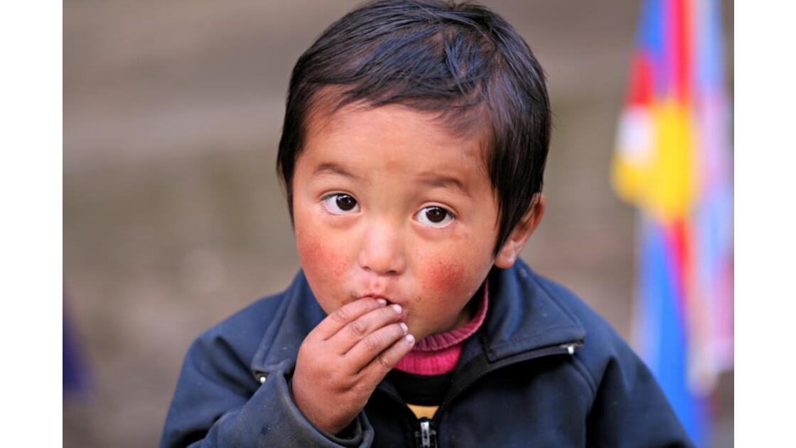Enfant à Lukla
