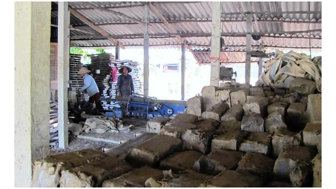 Les briques sont formées avec de la bou