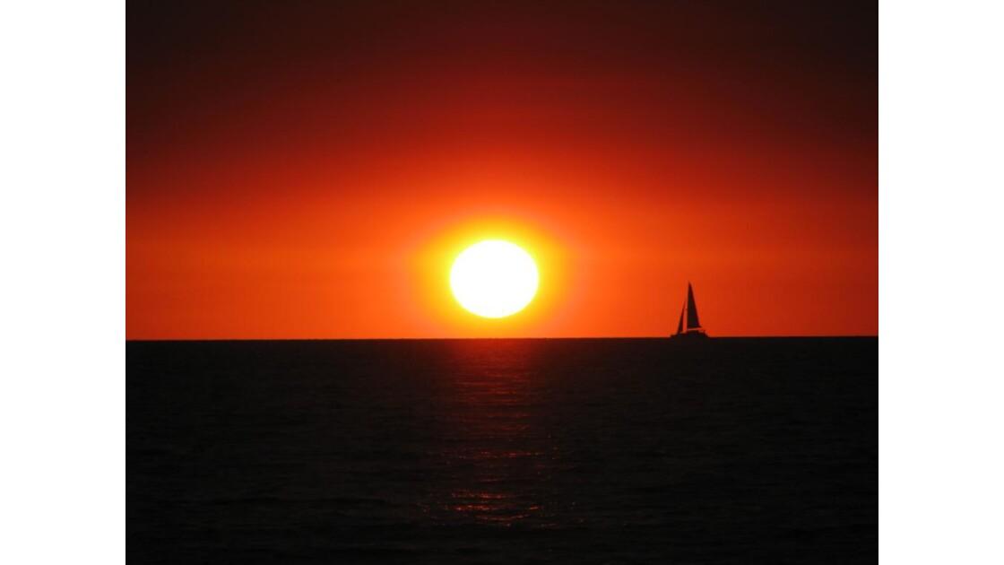 coucher de soleil a Broome