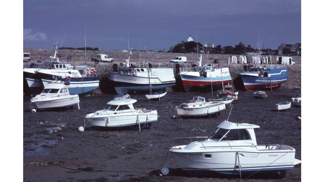 Roscoff: Port à marée basse