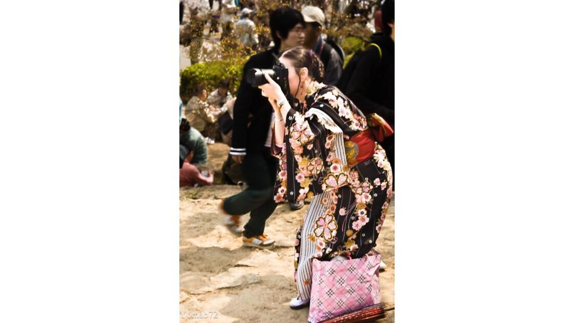 Touriste Japonaise,  Himeji Jo