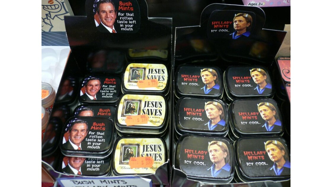 boîtes de bonbons Bush Clinton