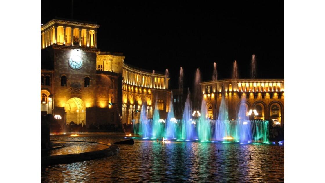 Centre ville (Erevan)-Jet d'eau musical