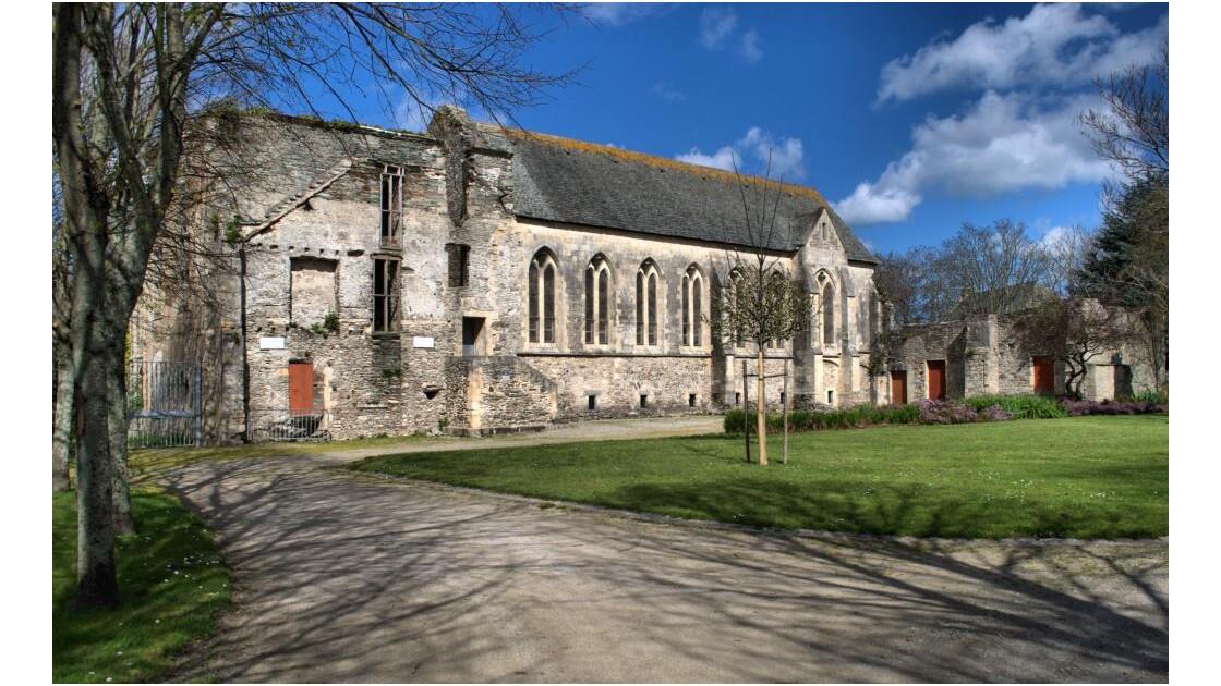 Vue latérale de l'Abbaye