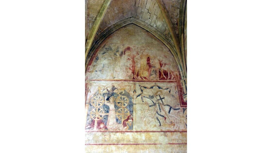Fresque dans la chapelle du Cheylard
