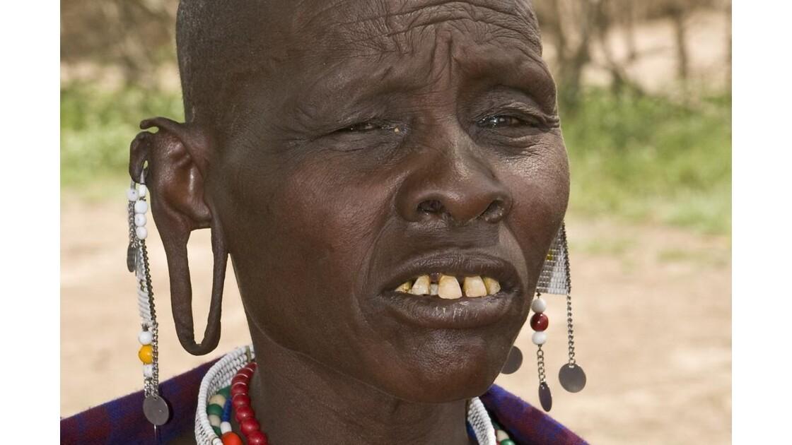 Portrait de femme Masai