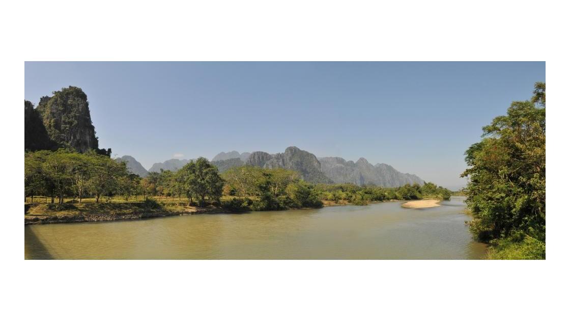 Vang Vieng, rivière Nam Song