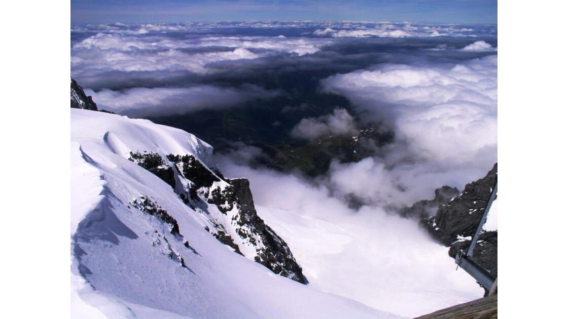 vue depuis la Jungfrau/ 4000 m en Suisse