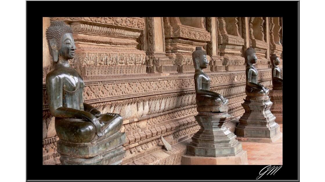Laos . Temple de Vientiane.