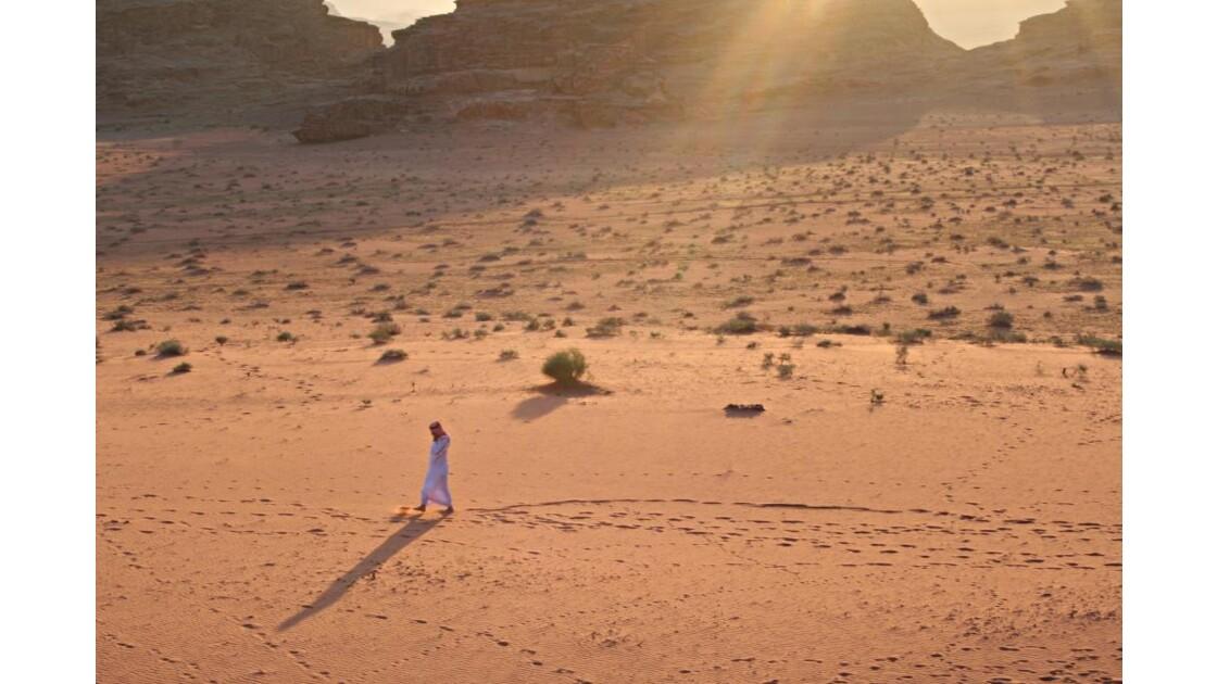 Un bedouin dans le Wadi Rum