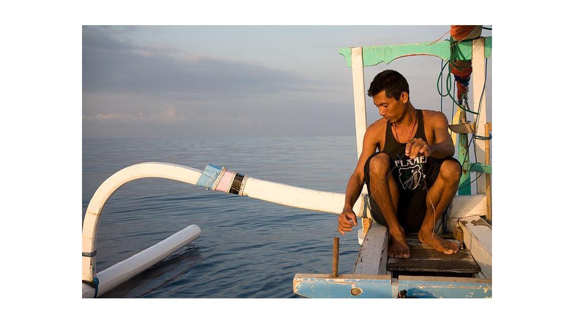 Bali, pêcheur, Amed