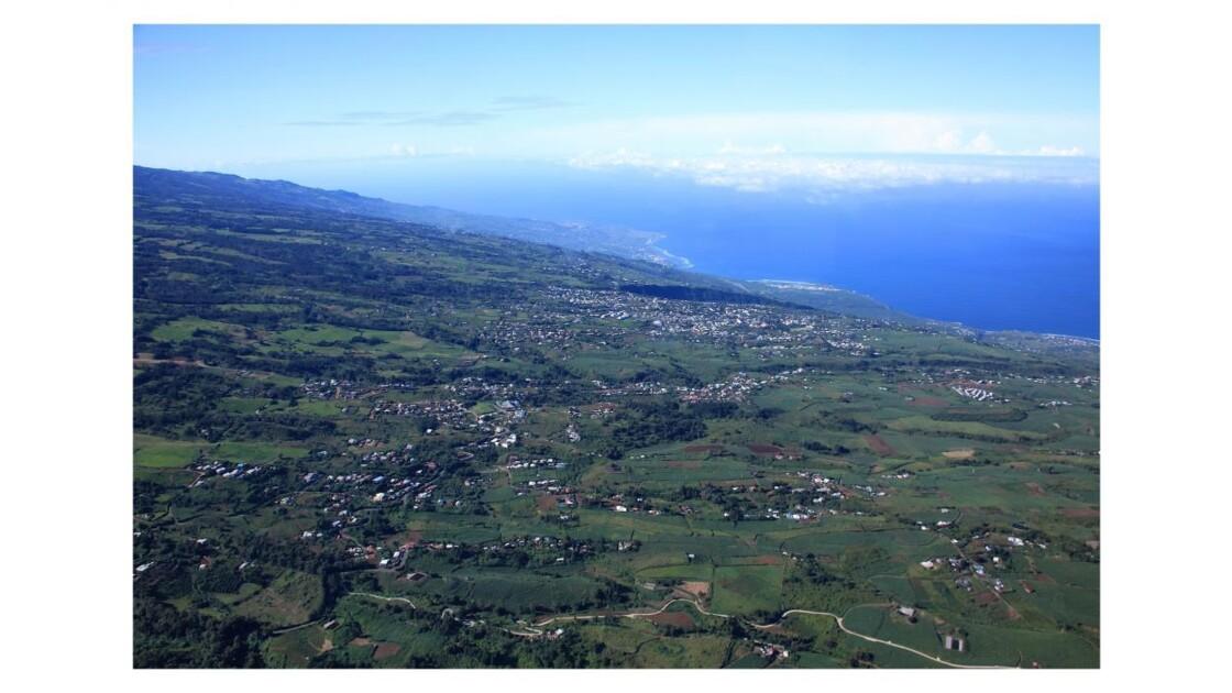 vue aérienne la côte sous le vent
