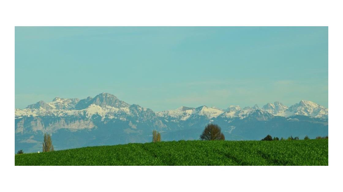 la Savoie depuis Bussy s/Morges