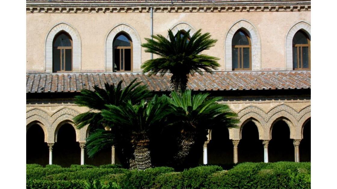 Monreale, cloître aux palmiers