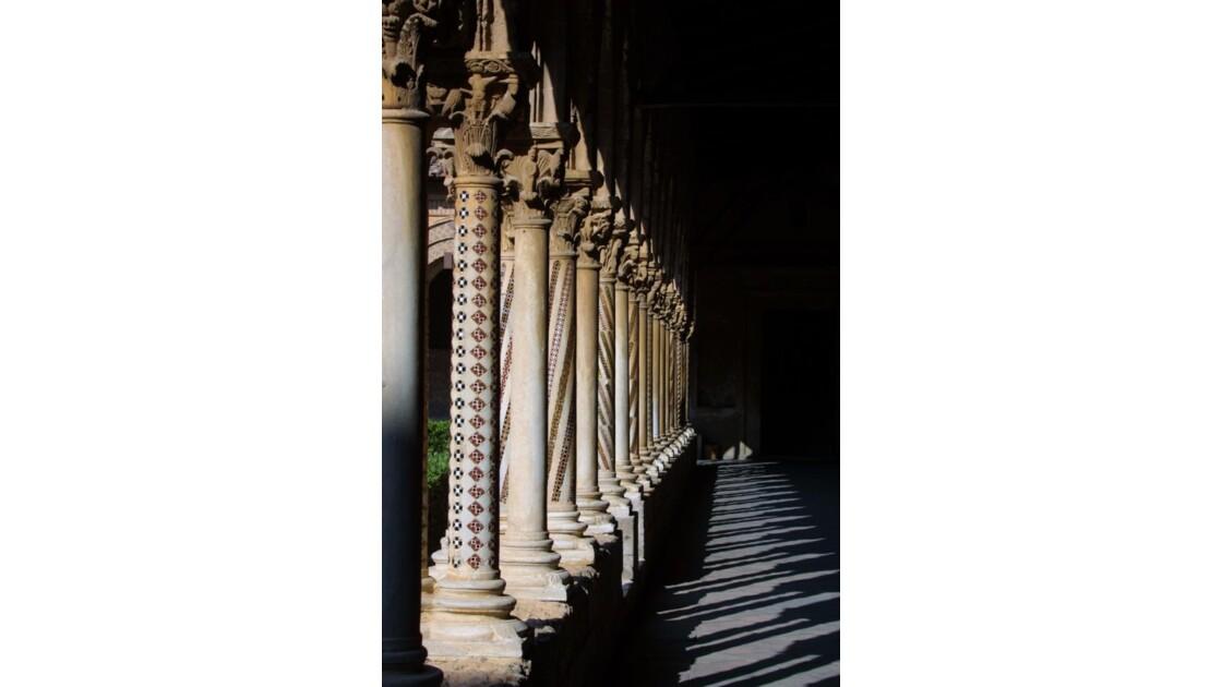 Monreale, cloître, colonnade